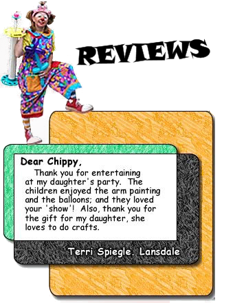 Chippy The Clown Rave Reviews
