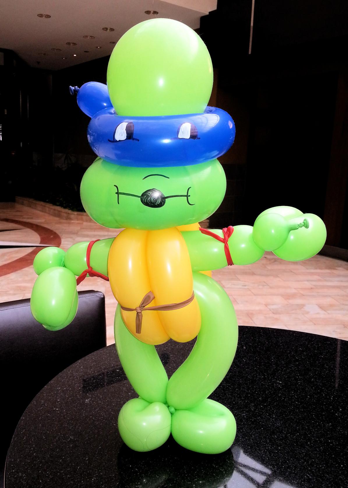 Teenage Mutant Ninja Turtle Balloon Twisting fun at Kapital Kidvention - made by Chippy The Clown
