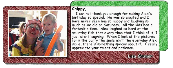 Chippy The Clown - appearances